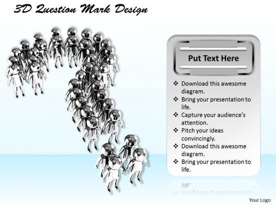 Stock Photo 3d Question Mark Design PowerPoint Template
