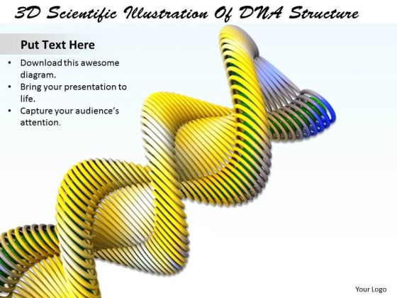 Stock photo 3d scientific illustration of dna structure ppt template stock photo 3d scientific illustration of dna structure ppt template powerpoint templates ccuart Image collections