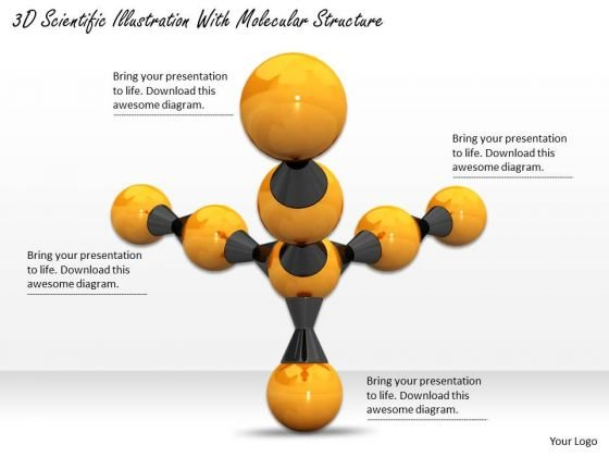 Stock Photo 3d Scientific Illustration With Molecular Structure Ppt Template