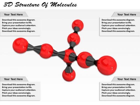 Stock Photo 3d Structure Of Molecules Ppt Template