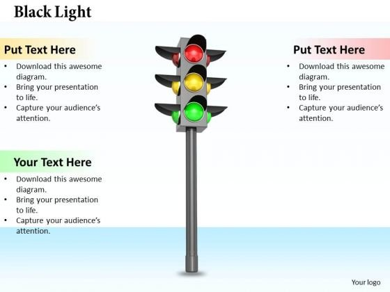 Stock Photo 3d Traffic Light PowerPoint Slide