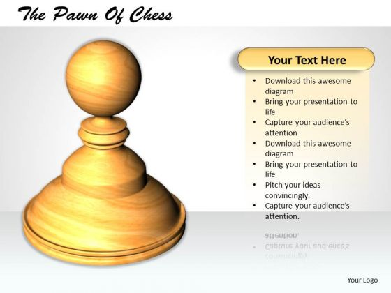 Stock Photo 3d White Chess Camel PowerPoint Slide