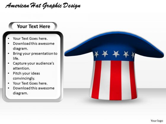 Stock Photo American Hat Graphic Design PowerPoint Template