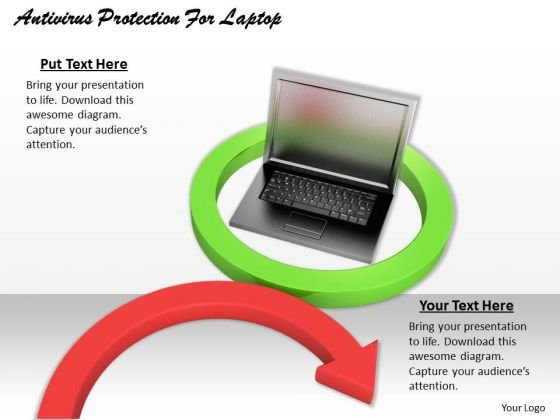 Stock Photo Antivirus Protection For Laptop Ppt Template