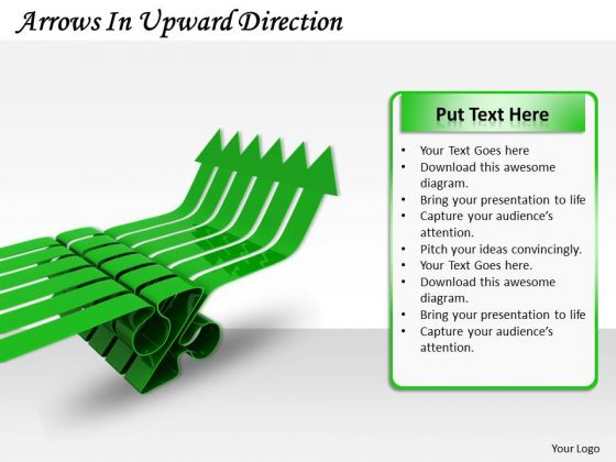Stock Photo Arrows In Upward Direction Ppt Template