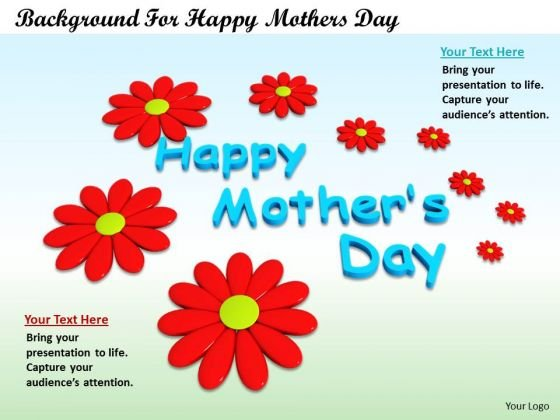Stock Photo Background For Happy Mothers Day PowerPoint Template