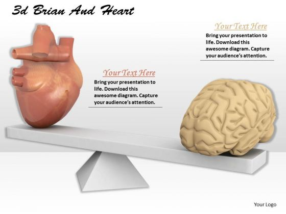 Stock Photo Balance Between Heart And Brain PowerPoint Slide