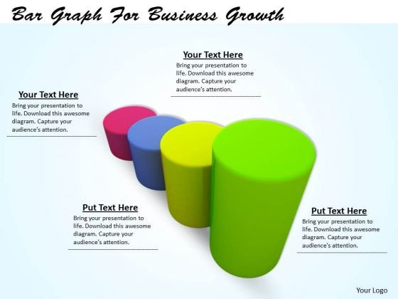 Stock Photo Bar Graph For Business Growth Ppt Template