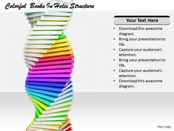 Stock Photo Basic Marketing Concepts Colorful Books Helix Structure