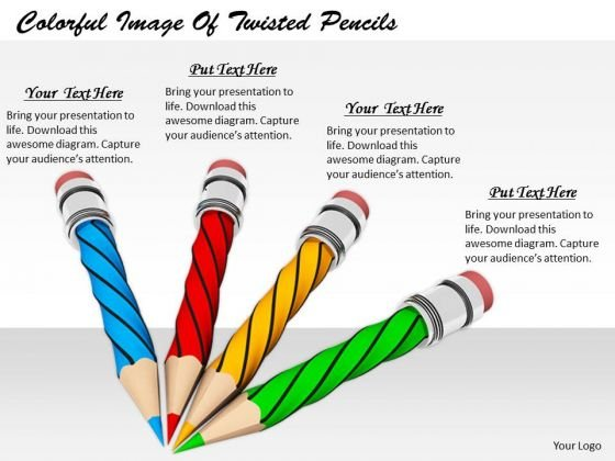 Stock Photo Basic Marketing Concepts Colorful Image Of Twisted Pencils