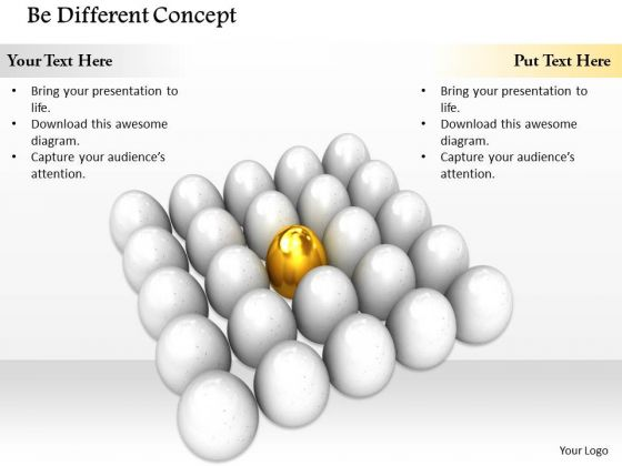 Stock Photo Be Different Concept For Team PowerPoint Slide