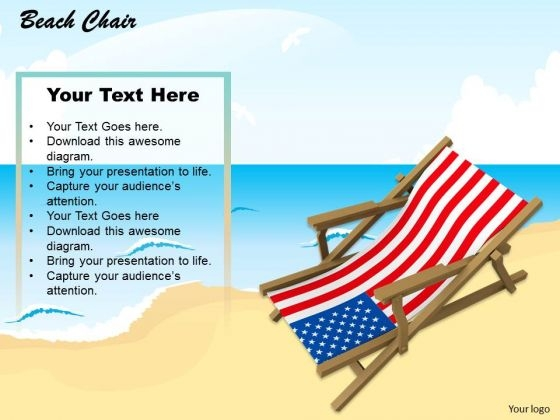 Stock Photo Beach Chair On Sand Holiday PowerPoint Slide