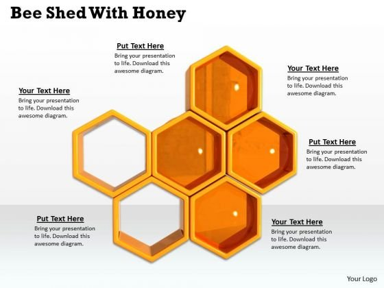 Stock Photo Bee Shed With Honey Powerpoint Template Powerpoint