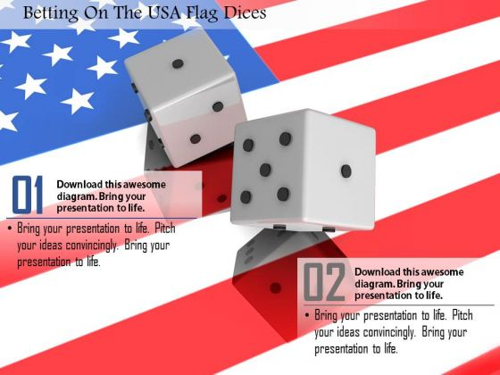 Stock Photo Betting On The Usa Flag Dices PowerPoint Slide