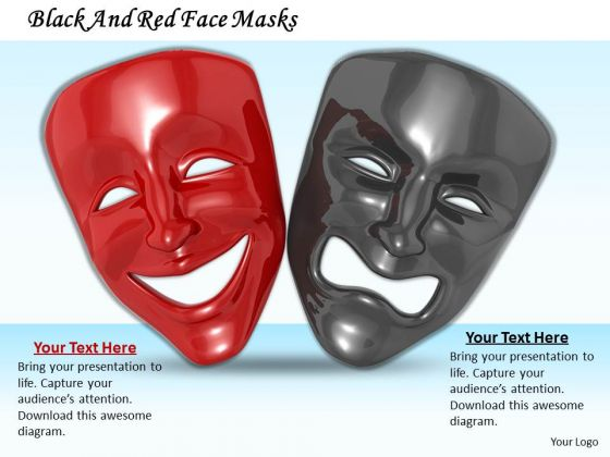 stock_photo_black_and_red_face_masks_powerpoint_template_1