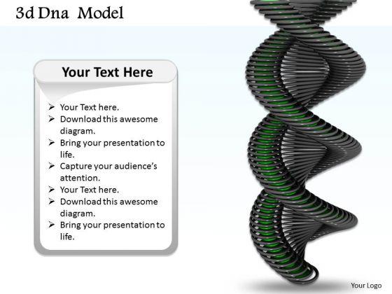 Stock Photo Black Color Dna Design For Biochemistry PowerPoint Slide