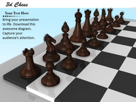 Stock Photo Black Pawns On Chess Board PowerPoint Slide