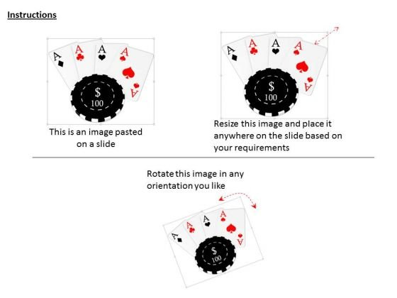 stock_photo_black_poker_chip_over_aces_powerpoint_slide_2