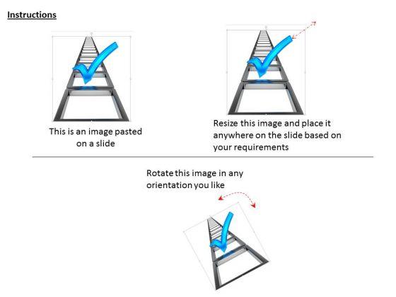stock_photo_blue_check_mark_over_ladder_powerpoint_slide_2