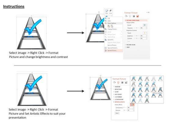 stock_photo_blue_check_mark_over_ladder_powerpoint_slide_3