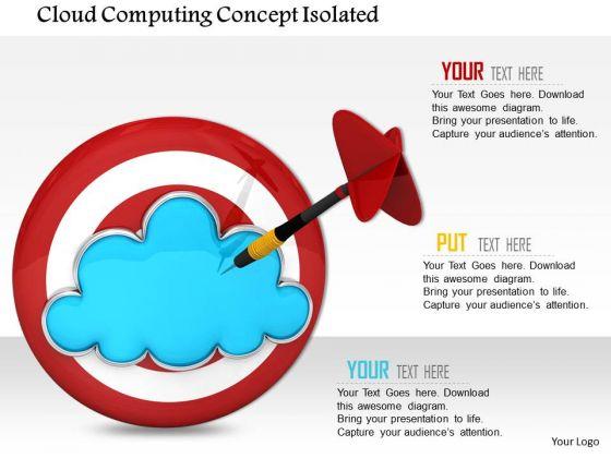 Stock Photo Blue Cloud On Red Target Dart PowerPoint Slide