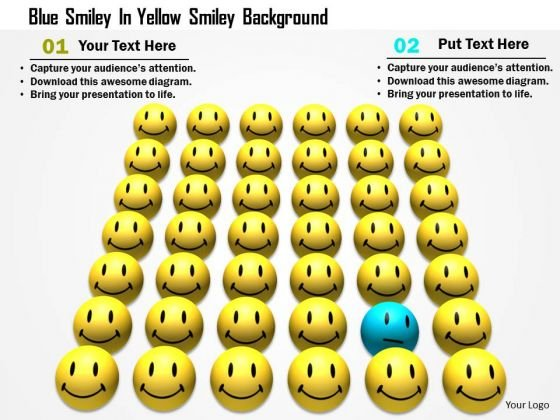 stock_photo_blue_smiley_in_yellow_smiley_background_powerpoint_slide_1