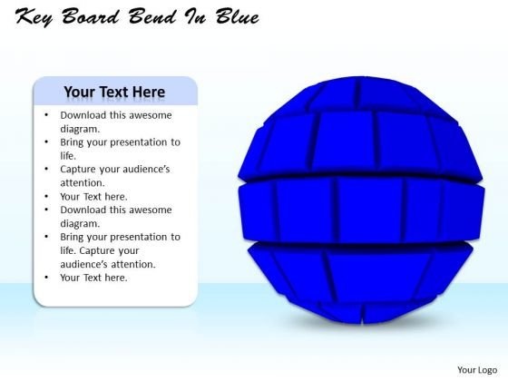 Stock Photo Blue Sphere On White Background PowerPoint Slide
