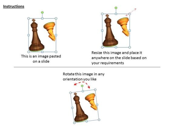 stock_photo_brown_and_golden_chess_knight_and_horse_powerpoint_template_2