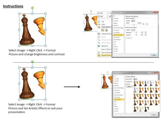 stock_photo_brown_and_golden_chess_knight_and_horse_powerpoint_template_3