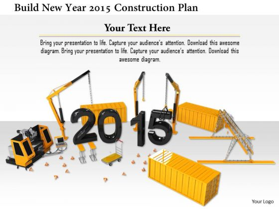 Stock Photo Build New Year 2015 Construction Plan PowerPoint Slide