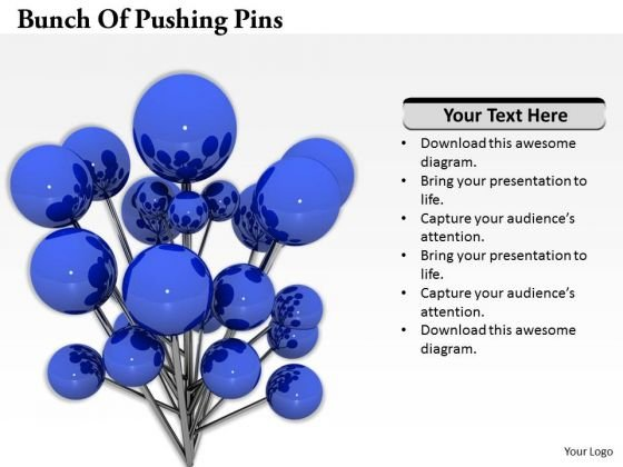 Stock Photo Bunch Of Pushing Pins PowerPoint Template