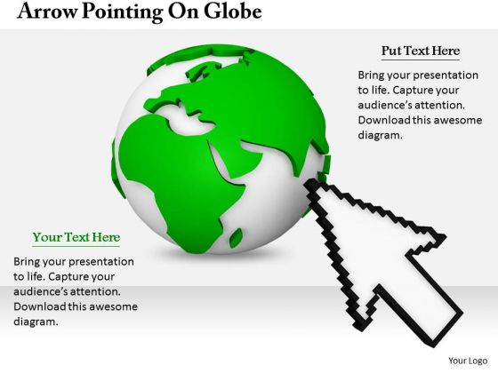 Stock Photo Business And Strategy Arrow Pointing On Globe Images Photos