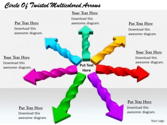Stock Photo Business And Strategy Circle Of Twisted Multicolored Arrows Images Photos