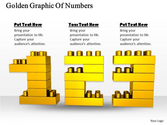 Stock Photo Business And Strategy Golden Graphic Of Numbers Icons Images