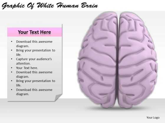 Stock Photo Business And Strategy Graphic Of White Human Brain Clipart
