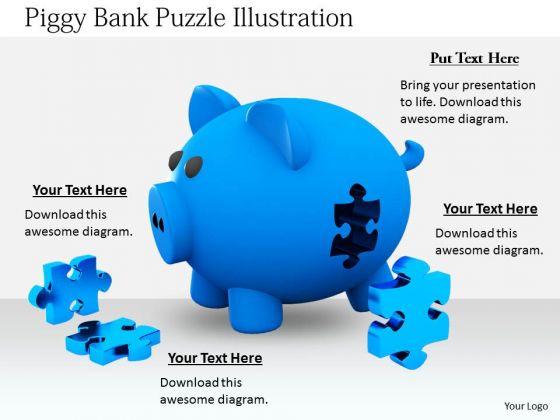 Stock Photo Business Concepts Piggy Bank Puzzle Illustration Icons Images