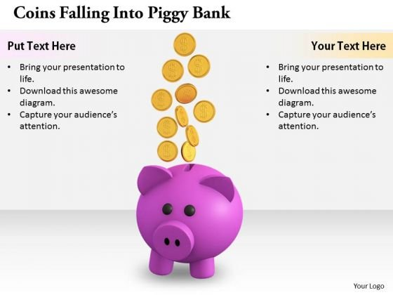 Stock Photo Business Development Strategy Coins Falling Into Piggy Bank Images Photos
