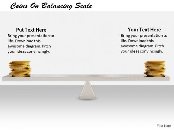 Stock Photo Business Development Strategy Coins On Balancing Scale Images Photos