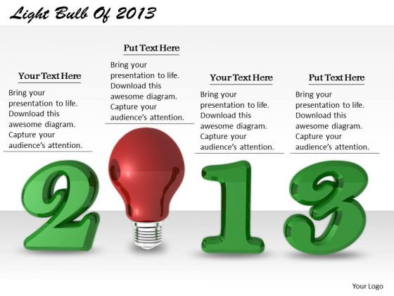 Stock Photo Business Development Strategy Light Bulb Of 2013 Icons Images