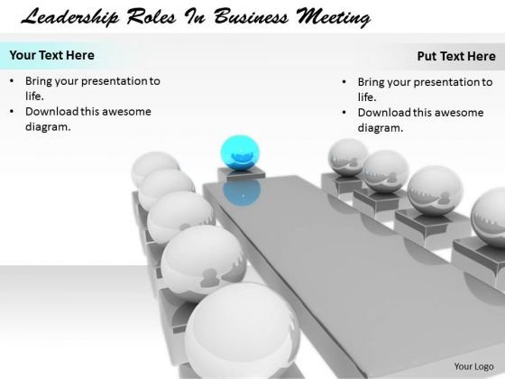 Stock Photo Business Development Strategy Template Leadership Roles Meeting Best