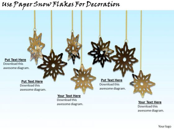 Stock Photo Business Development Strategy Template Use Paper Snow Flakes For Decoration Pictures