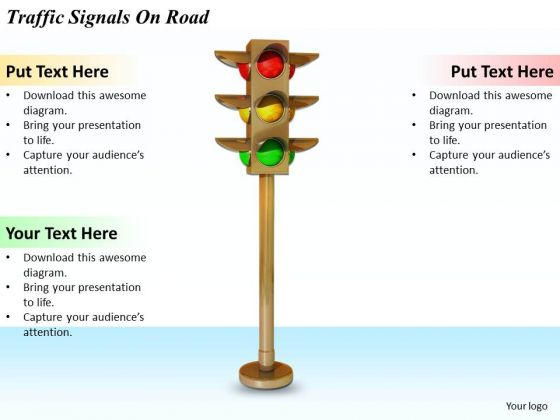 Stock Photo Business Development Strategy Traffic Signals On Road Icons Images