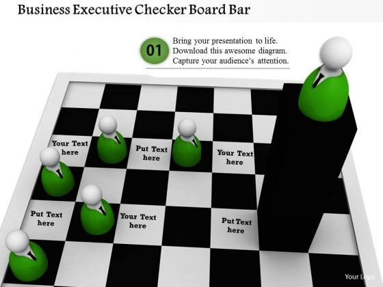 Stock Photo Business Executive Checker Board Bar PowerPoint Slide
