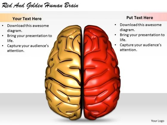 Stock Photo Business Expansion Strategy Red And Golden Human Brain Icons Images