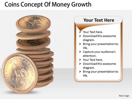 Stock Photo Business Growth Strategy Coins Concept Of Money Pictures Images