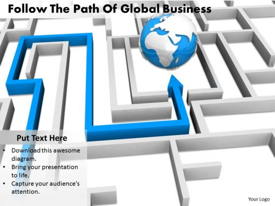 Stock Photo Business Integration Strategy Follow The Path Of Global Images