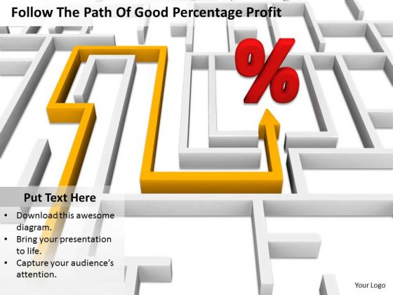 Stock Photo Business Integration Strategy Follow The Path Of Good Percentage Profit Images