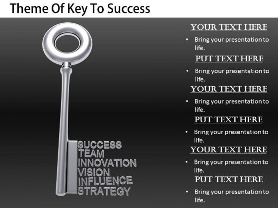 Stock Photo Business Intelligence Strategy Theme Of Key To Success Pictures Images