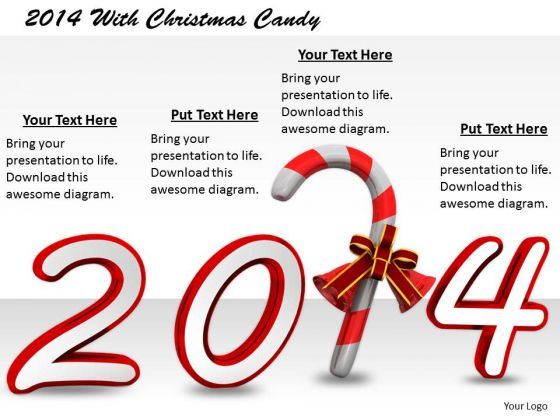 Stock Photo Business Level Strategy Definition 2014 With Christmas Candy Icons