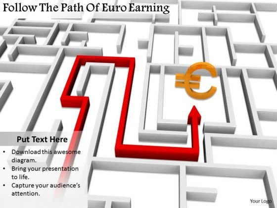Stock Photo Business Level Strategy Definition Follow The Path Of Euro Earning Icons